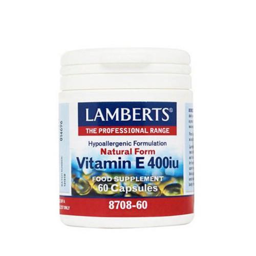 Lamberts Natural Form Vitamin E 400iu 60 κάψουλες
