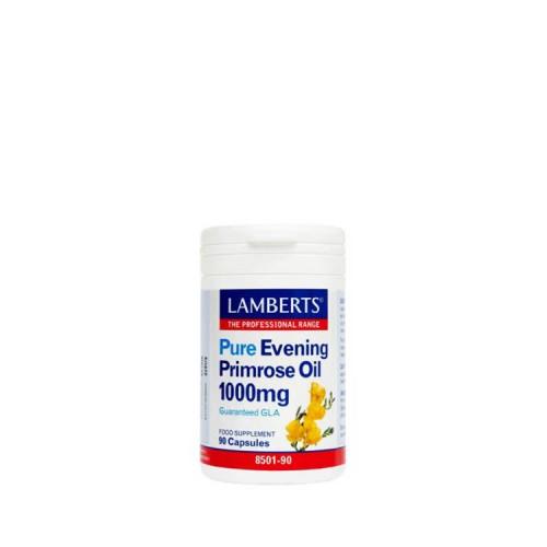 Lamberts Pure Evening Primrose Oil 1000mg με Βιταμίνη Ε, 90 κάψουλες