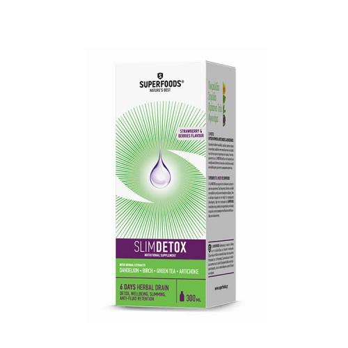 Superfoods SlimDETOX - Αποτοξίνωση &  Αδυνάτισμα, 300ml
