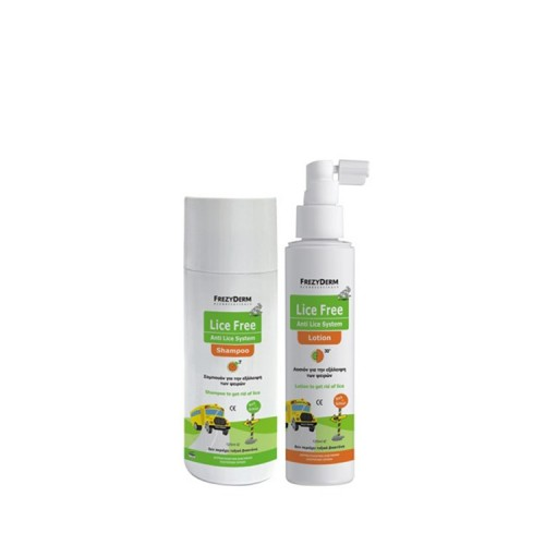 Frezyderm Lice Free Set (SHAMPOO + Lotion 2x125ml)