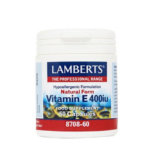 Lamberts Natural Form Vitamin E 400iu 60 κάψουλες