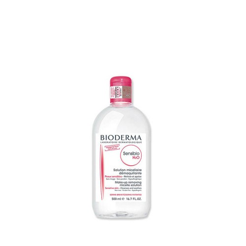 Bioderma Sensibio H2O - Εξαιρετικά ήπιο διάλυμα καθαρισμού/ντεμακιγιάζ για ευαίσθητο δέρμα, 500ml