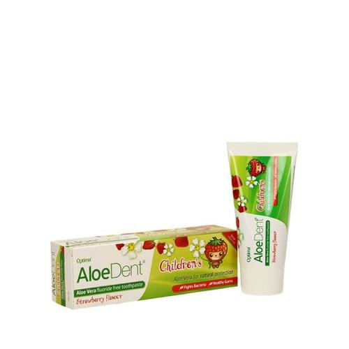 Optima Aloe Dent Strawberry Children's - Οδοντόπαστα με γεύση Φράουλας 50ml