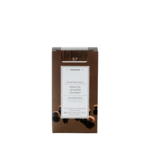 Korres Argan oil advanced colorant Μόνιμη Βαφή - 5.7 Σοκολατί 50ml