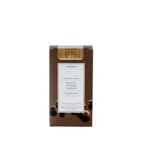 Korres Argan oil advanced colorant Μόνιμη Βαφή - 8.0 Ξανθό Ανοιχτό 50ml