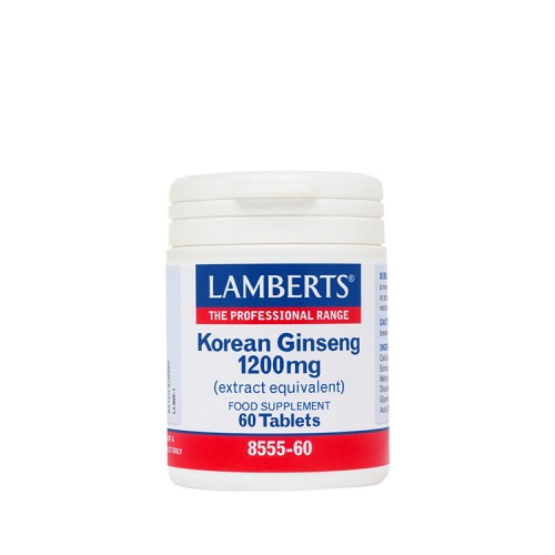 Lamberts Korean Ginseng 1200mg 60 ταμπλέτες
