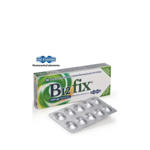 Uni-Pharma B12 FIX, 30 δισκία διασπειρόμενα στο στόμα