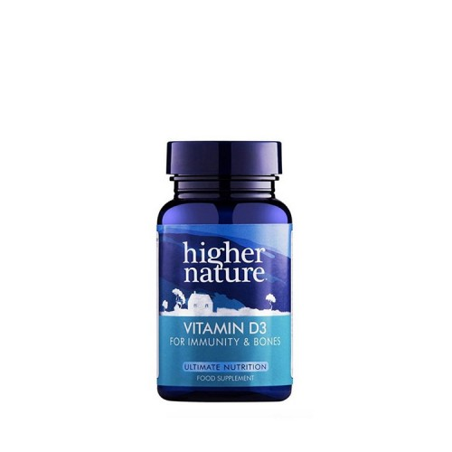 Higher Nature Vitamin D3 500iu For Immunity & Bones, 60 κάψουλες