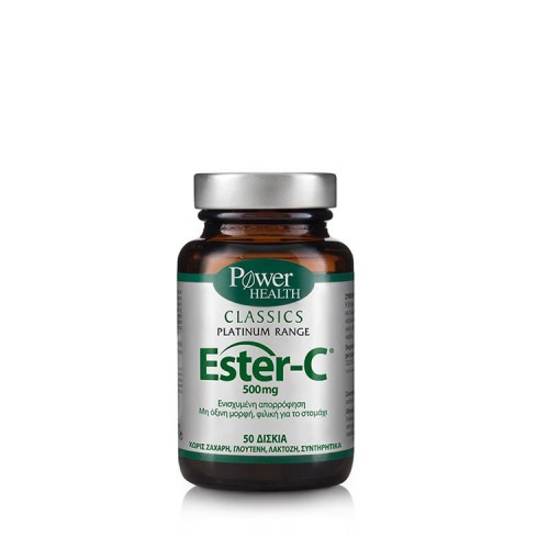 Power Health Ester-C 500mg, 50 ταμπλέτες