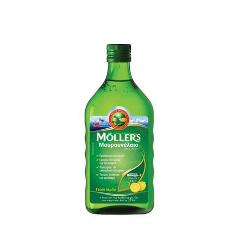 Moller's Cod Liver Oil - Μουρουνέλαιο με Γεύση Λεμόνι,250ml