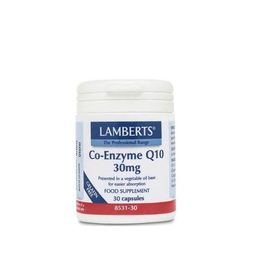 Lamberts Co-Enzyme Q10 30mg, 30 κάψουλες