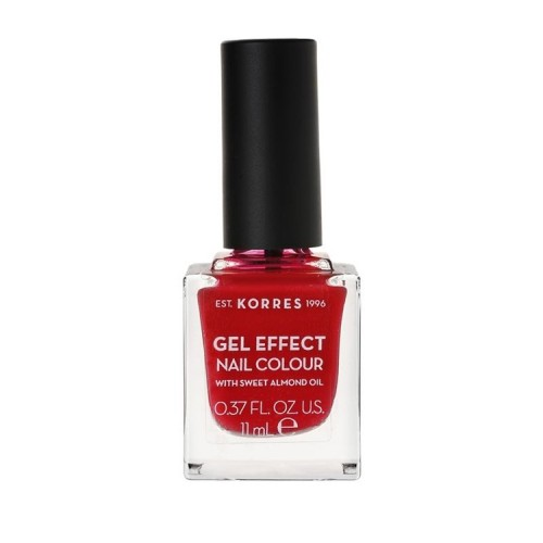 Korres Gel Effect Nail Colour No.51 Rosy Red Βερνίκι Νυχιών - 11ml