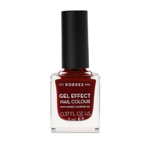 Korres Gel Effect Nail Colour With Sweet Almond Oil No.59 Wine Red, Βερνίκι Νυχιών - 11ml