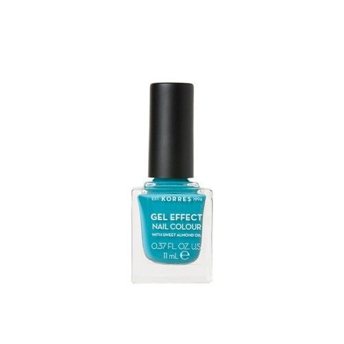 Korres Gel Effect Nail Colour Limited Edition No.82 Pool Waves Βερνίκι Νυχιών Απόχρωση Γαλάζιο - 11ml