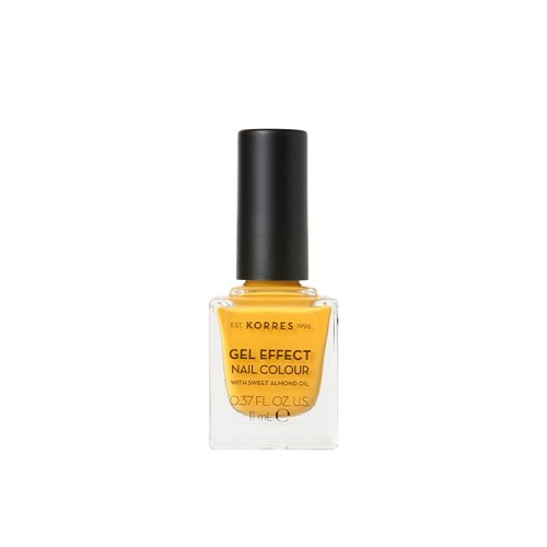 Korres Gel Effect Nail Colour Limited Edition No.91 Sunshine Βερνίκι Νυχιών Απόχρωση Κίτρινο - 11ml