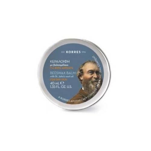 Korres Beeswax Balm with St John's Wort Oil Κεραλοιφή με Βαλσαμέλαιο - 40ml