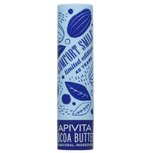 Apivita Comfort Smile Limited Edition 40 Years Lip Care Cocoa Butter SPF20 Balm Χειλιών με με Βούτυρο κακάο & Μέλι - 4.4 gr