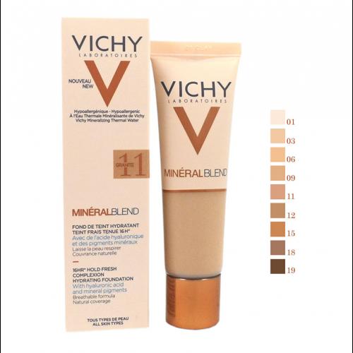 Vichy MineralBlend Hydrating Fluid Foundation -11 Granite - 30ml
