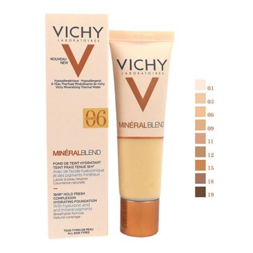 Vichy MineralBlend Hydrating Fluid Foundation No.06 Dune με Υδάτινη Βάση για Λαμπερή Επιδερμίδα & 16ωρο Κράτημα - 30ml