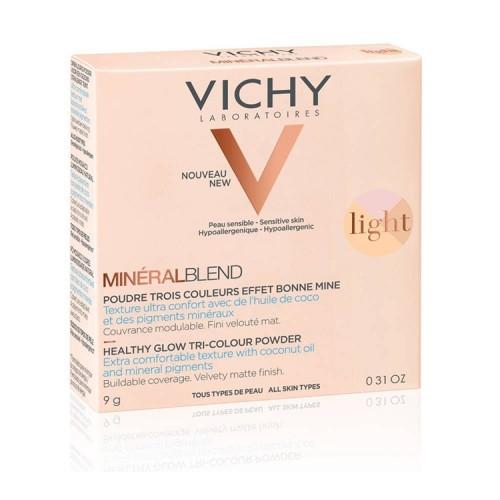 Vichy Mineralblend Healthy Glow Tri-Colour Powder Light Τρίχρωμη πούδρα για φυσική λάμψη -  9gr