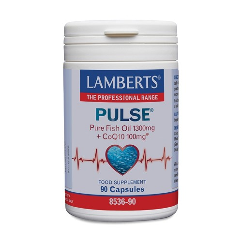 Lamberts Pulse Pure Fish Oil 1300mg & CoQ10 100mg - 90 κάψουλες