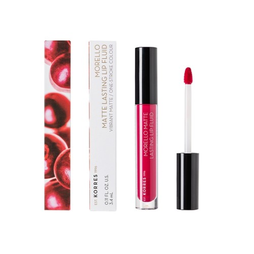 Korres Morello Matte Lasting Lip Fluid 29 Strawberry Kiss - 3.4ml