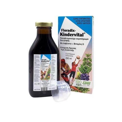 Power Health Floradix Kindervital - Πολυβιταμινούχο Συμπλήρωμα διατροφής για Παιδιά, 250ml
