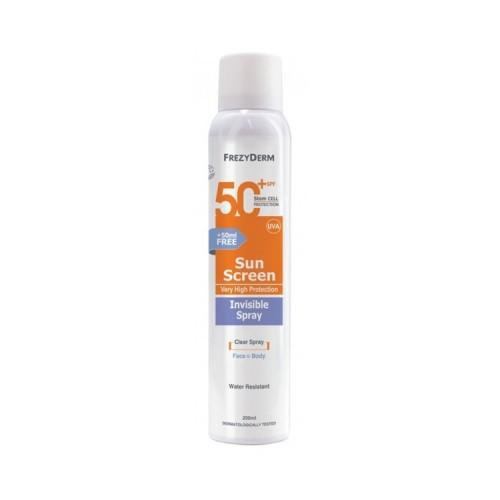 Frezyderm Invisible Spray SPF 50 για Πρόσωπο & Σώμα +50ml ΔΩΡΟ, 200ml
