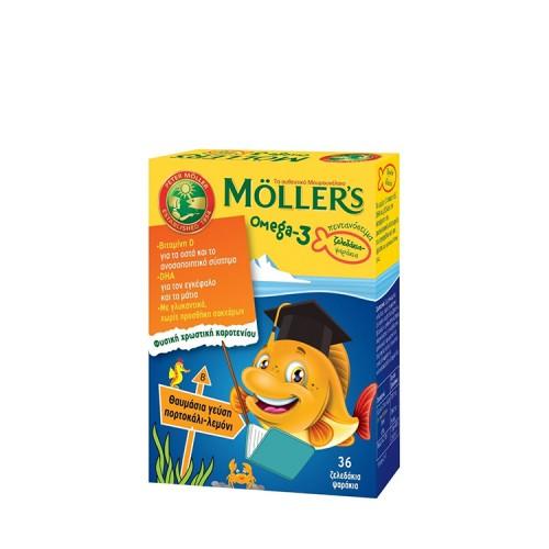 Moller's Omega-3 για Παιδιά - Ζελεδάκια Ψαράκια με γεύση Πορτοκάλι/Λεμόνι, 36 τεμάχια