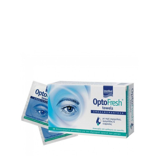 InterMed Optofresh Eyelids towels, 20 items