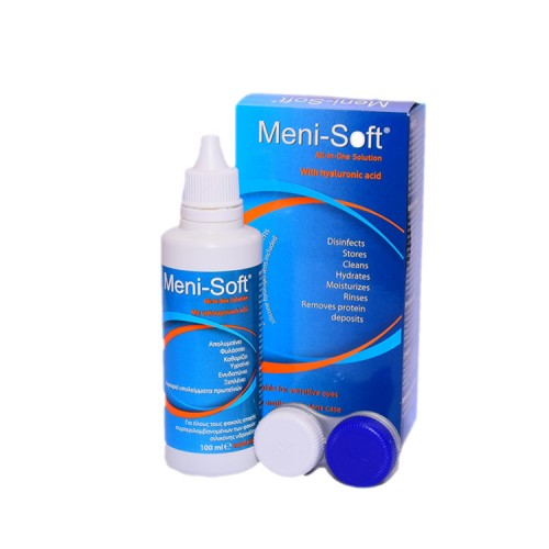 Pharmex Meni-Soft All-in-One Solution with Hyaluronic Acid, 100ml