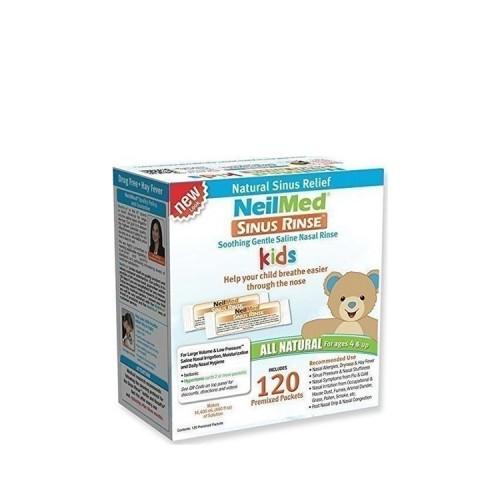 NeilMed Pharmaceuticals SINUS RINSE -All natural Relief, 120 premixed sachets for Kids