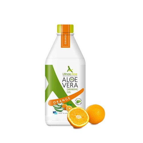 Litinas Aloe Drinking Aloe Vera Gel, 1000ml - With Orange Flavor