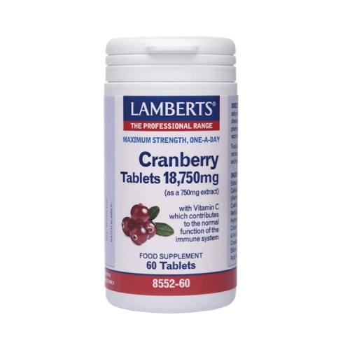 LAMBERTS - Cranberry tablets 18,750mg-60 ταμλέτες
