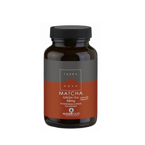 Terranova Matcha Green Tea 400mg, 50 vegan caps