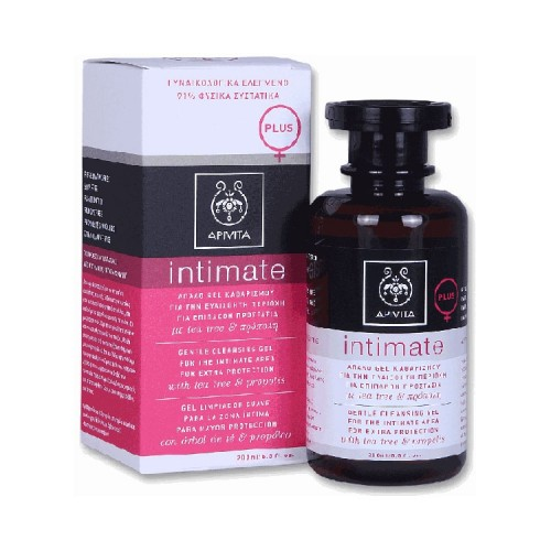 Apivita Intimate  Plus- Gentle Cleansing Gel for the Intimate Area for Extra Protection with propolis & tea tree 200ml